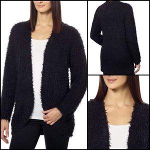 Kensie Fuzzy Eyelash Open Cardigan Sweater